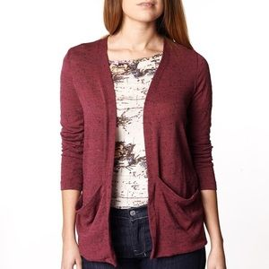 Anthropologie sparkle & fade red cardigan